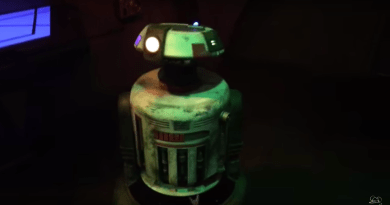 Jake the Droid at Star Wars Launch Bay eat Disneyland