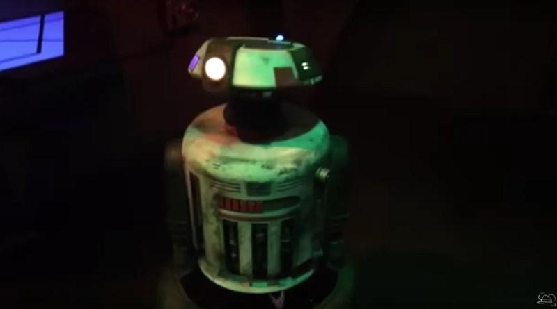 Jake the Droid at Star Wars Launch Bay eat Disneyland