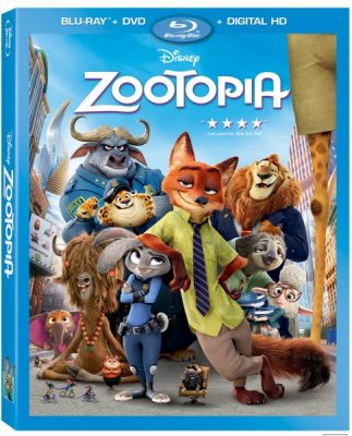 Zootomia Blu-Ray Combo Pack