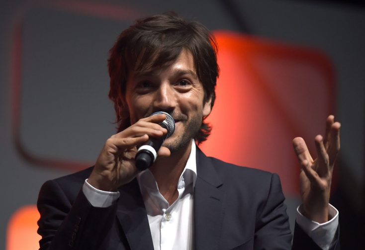 LONDON, ENGLAND - JULY 15: Diego Luna on stage during the Rogue One Panel at the Star Wars Celebration 2016 at ExCel on July 15, 2016 in London, England. (Photo by Ben A. Pruchnie/Getty Images for Walt Disney Studios) *** Local Caption *** Diego Luna