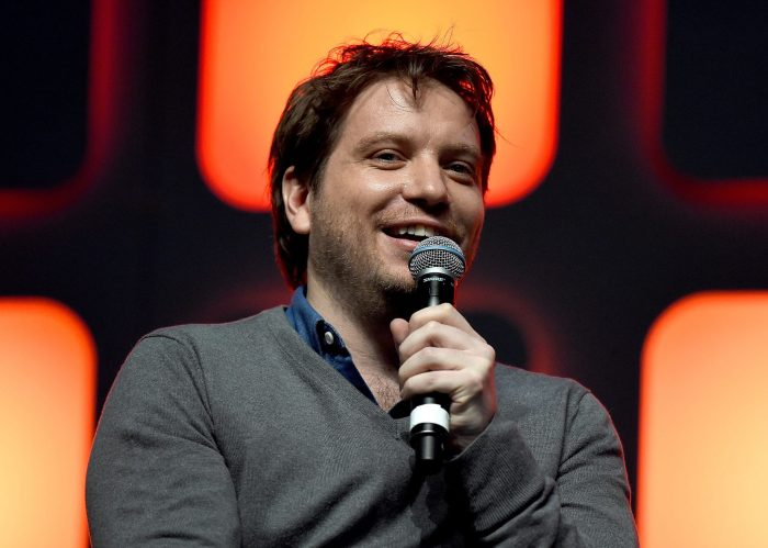 LONDON, ENGLAND - JULY 15: Director Gareth Edwards on stage during the Rogue One Panel at the Star Wars Celebration 2016 at ExCel on July 15, 2016 in London, England. (Photo by Ben A. Pruchnie/Getty Images for Walt Disney Studios) *** Local Caption *** Gareth Edwards