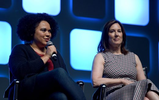 LONDON, ENGLAND - JULY 17: Kiri Hart, SVP of Development, and Kathleen Kennedy, President of Lucasfilm, on stage during Future Directors Panel at the Star Wars Celebration 2016 at ExCel on July 17, 2016 in London, England. (Photo by Ben A. Pruchnie/Getty Images for Walt Disney Studios) *** Local Caption *** Kiri Hart; Kathleen Kennedy
