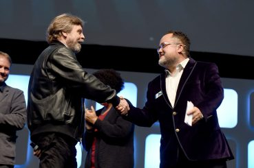 LONDON, ENGLAND - JULY 17: Mark Hamill and Pablo Hidalgo on stage during Future Directors panel at the Star Wars Celebration 2016 at ExCel on July 17, 2016 in London, England. (Photo by Ben A. Pruchnie/Getty Images for Walt Disney Studios) *** Local Caption *** Mark Hamill; Pablo Hidalgo