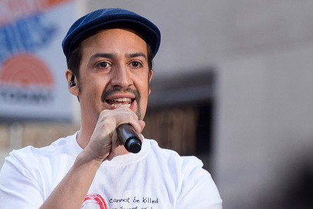 "Lin-Manuel Miranda performs on NBC's ""Today"" show at Rockefeller Plaza on Monday, July 11, 2016, in New York. (Photo by Charles Sykes/Invision/AP)"