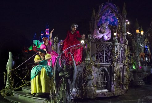 NEW FRIGHTFULLY FUN PARADE (ANAHEIM, Calif.) Ð Halloween Time at the Disneyland Resort just got spookier with the new ÒFrightfully Fun ParadeÓ at MickeyÕs Halloween Party in Disneyland park. Guests will see some of their favorite ghoulish characters, including Jack Skellington, Dr. Facilier and the Hitchhiking Ghosts singing and dancing down the parade route at this separate-ticket event. MickeyÕs Halloween Party runs for 17 select nights beginning Friday, Sept. 23. (Scott Brinegar/Disneyland Resort)