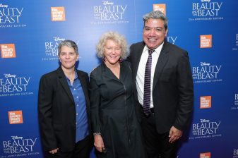 """NEW YORK, NY - SEPTEMBER 18: Film Socielty of Lincoln Center, Lesli Klainberg, Wendy Keys and Eugene Hernandez attend the special screening of Disney's """"Beauty and the Beast"""" to celebrate the 25th Anniversary Edition release on Blu-Ray and DVD on September 18, 2016 in New York City. (Photo by Neilson Barnard/Getty Images for Walt Disney Studios Home Entertainment) *** Local Caption *** Lesli Klainberg; Wendy Keys; Eugene Hernandez"""