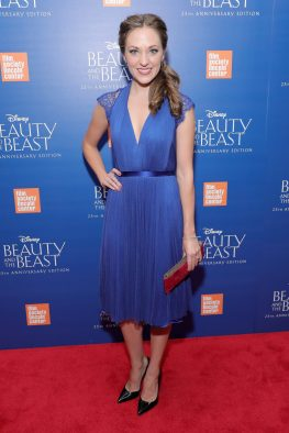 "NEW YORK, NY - SEPTEMBER 18: Laura Osnes attends the special screening of Disney's ""Beauty and the Beast"" to celebrate the 25th Anniversary Edition release on Blu-Ray and DVD on September 18, 2016 in New York City. (Photo by Neilson Barnard/Getty Images for Walt Disney Studios Home Entertainment) *** Local Caption *** Laura Osnes"