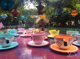 Mad Tea Party on a Rainy Day in Fantasyland at Disneyland