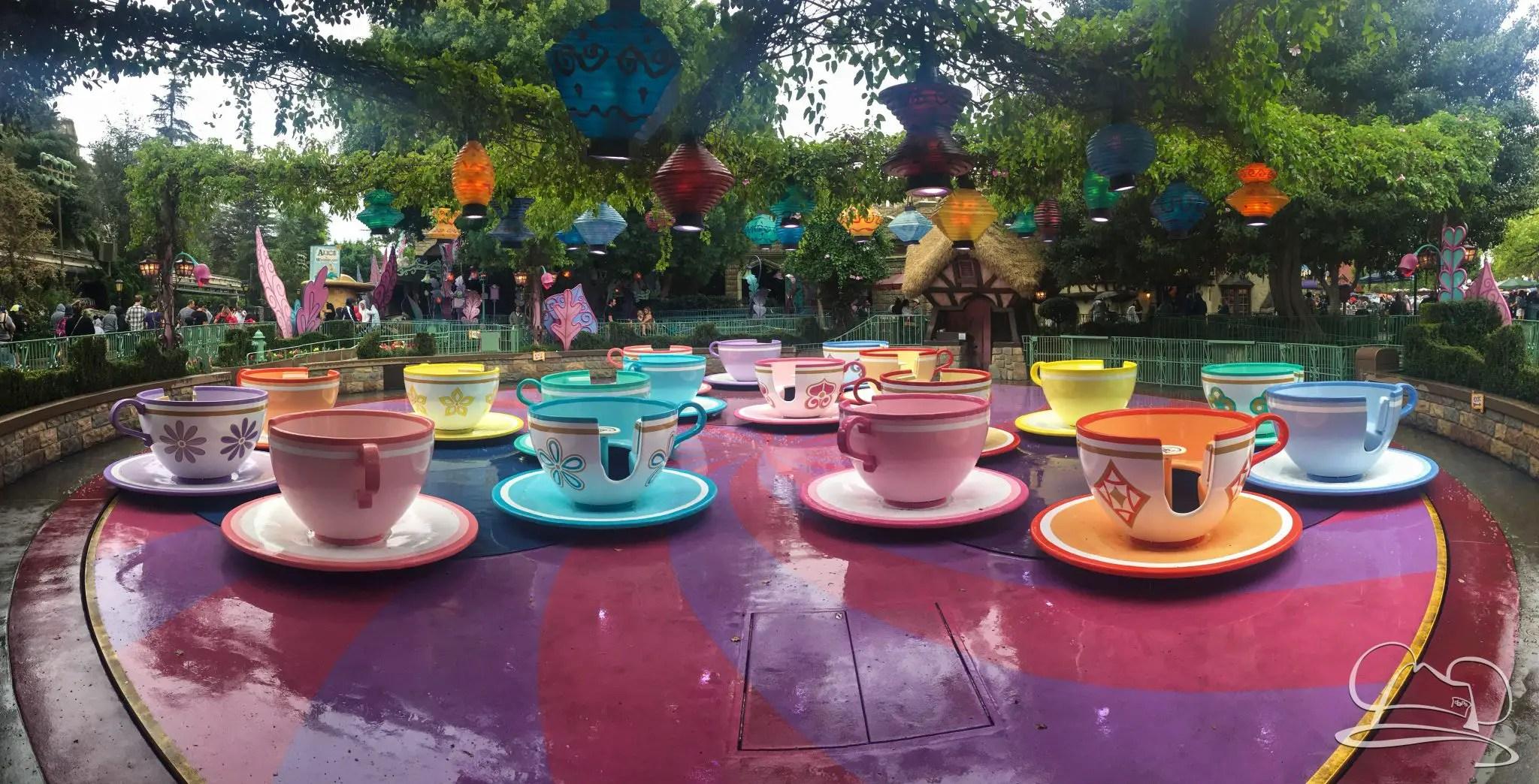 Mad Tea Party Disneyland Enjoying Rainy Days at...