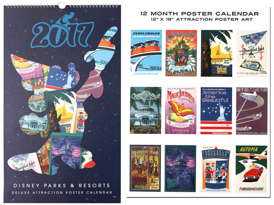 Disney Parks and Resorts Attraction Poster Calendar