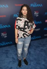 """HOLLYWOOD, CA - NOVEMBER 14: Performer Alessia Cara attends The World Premiere of Disney's """"MOANA"""" at the El Capitan Theatre on Monday, November 14, 2016 in Hollywood, CA. (Photo by Jesse Grant/Getty Images for Disney) *** Local Caption *** Alessia Cara"""