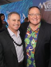 "HOLLYWOOD, CA - NOVEMBER 14: Walt Disney Studios President Alan Bergman (L) and executive producer John Lasseter attend The World Premiere of Disney's ""MOANA"" at the El Capitan Theatre on Monday, November 14, 2016 in Hollywood, CA. (Photo by Jesse Grant/Getty Images for Disney) *** Local Caption *** Alan Bergman; John Lasseter"