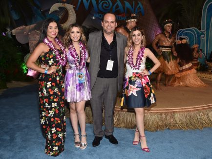 "HOLLYWOOD, CA - NOVEMBER 14: (L-R) Thaynara Gomes, Taciele Alcolea, guest and Natalia Cardoso attend The World Premiere of Disney's ""MOANA"" at the El Capitan Theatre on Monday, November 14, 2016 in Hollywood, CA. (Photo by Alberto E. Rodriguez/Getty Images for Disney) *** Local Caption *** Thaynara Gomes; Taciele Alcolea; Natalia Cardoso"