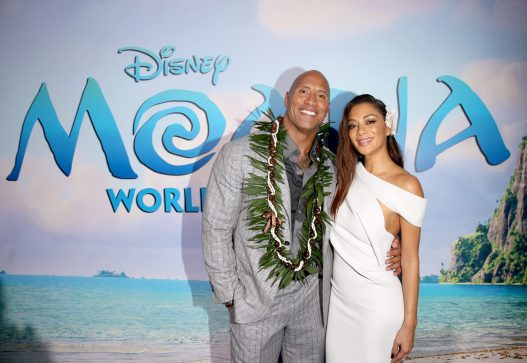 """HOLLYWOOD, CA - NOVEMBER 14: Actors Dwayne Johnson (L) and Nicole Scherzinger attend The World Premiere of Disney's """"MOANA"""" at the El Capitan Theatre on Monday, November 14, 2016 in Hollywood, CA. (Photo by Jesse Grant/Getty Images for Disney) *** Local Caption *** Nicole Scherzinger; Dwayne Johnson"""