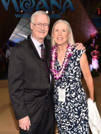 """HOLLYWOOD, CA - NOVEMBER 14: Director John Musker and Gale Musker attend The World Premiere of Disney's """"MOANA"""" at the El Capitan Theatre on Monday, November 14, 2016 in Hollywood, CA. (Photo by Alberto E. Rodriguez/Getty Images for Disney) *** Local Caption *** John Musker; Gale Musker"""