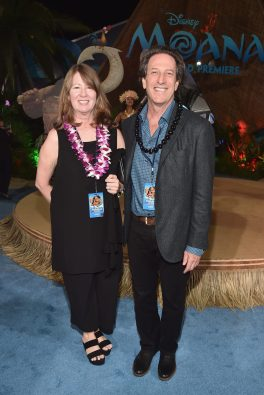 "HOLLYWOOD, CA - NOVEMBER 14: Walt Disney Animation Studios President Andrew Millstein (R) and Rosemarie Fall attend The World Premiere of Disney's ""MOANA"" at the El Capitan Theatre on Monday, November 14, 2016 in Hollywood, CA. (Photo by Alberto E. Rodriguez/Getty Images for Disney) *** Local Caption *** Rosemarie Fall; Andrew Millstein"