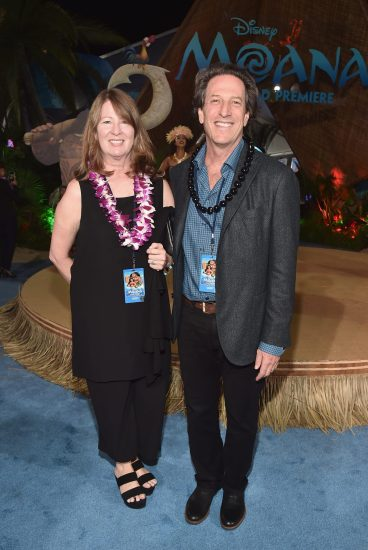 """HOLLYWOOD, CA - NOVEMBER 14: Walt Disney Animation Studios President Andrew Millstein (R) and Rosemarie Fall attend The World Premiere of Disney's """"MOANA"""" at the El Capitan Theatre on Monday, November 14, 2016 in Hollywood, CA. (Photo by Alberto E. Rodriguez/Getty Images for Disney) *** Local Caption *** Rosemarie Fall; Andrew Millstein"""