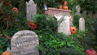 haunted mansion tombstones disneyland