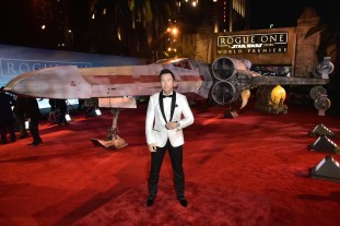 """HOLLYWOOD, CA - DECEMBER 10: Actor Donnie Yen attends The World Premiere of Lucasfilm's highly anticipated, first-ever, standalone Star Wars adventure, """"Rogue One: A Star Wars Story"""" at the Pantages Theatre on December 10, 2016 in Hollywood, California. (Photo by Marc Flores/Getty Images for Disney) *** Local Caption *** Donnie Yen"""