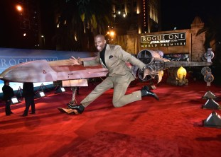 """HOLLYWOOD, CA - DECEMBER 10: Actor Terry Crews attends The World Premiere of Lucasfilm's highly anticipated, first-ever, standalone Star Wars adventure, """"Rogue One: A Star Wars Story"""" at the Pantages Theatre on December 10, 2016 in Hollywood, California. (Photo by Marc Flores/Getty Images for Disney) *** Local Caption *** Terry Crews"""