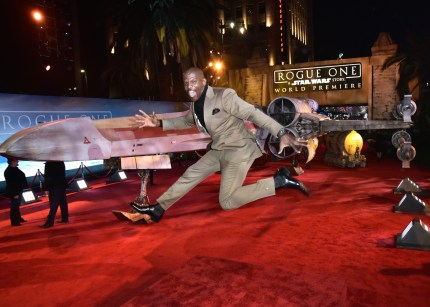 "HOLLYWOOD, CA - DECEMBER 10: Actor Terry Crews attends The World Premiere of Lucasfilm's highly anticipated, first-ever, standalone Star Wars adventure, ""Rogue One: A Star Wars Story"" at the Pantages Theatre on December 10, 2016 in Hollywood, California. (Photo by Marc Flores/Getty Images for Disney) *** Local Caption *** Terry Crews"