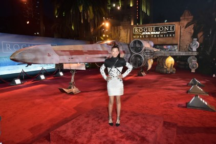 "HOLLYWOOD, CA - DECEMBER 10: Actress Storm Reid attends The World Premiere of Lucasfilm's highly anticipated, first-ever, standalone Star Wars adventure, ""Rogue One: A Star Wars Story"" at the Pantages Theatre on December 10, 2016 in Hollywood, California. (Photo by Marc Flores/Getty Images for Disney) *** Local Caption *** Storm Reid"