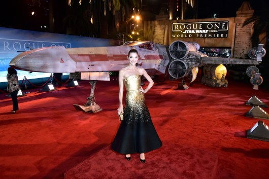 """HOLLYWOOD, CA - DECEMBER 10: Actress Jaime King attends The World Premiere of Lucasfilm's highly anticipated, first-ever, standalone Star Wars adventure, """"Rogue One: A Star Wars Story"""" at the Pantages Theatre on December 10, 2016 in Hollywood, California. (Photo by Marc Flores/Getty Images for Disney) *** Local Caption *** Jaime King"""