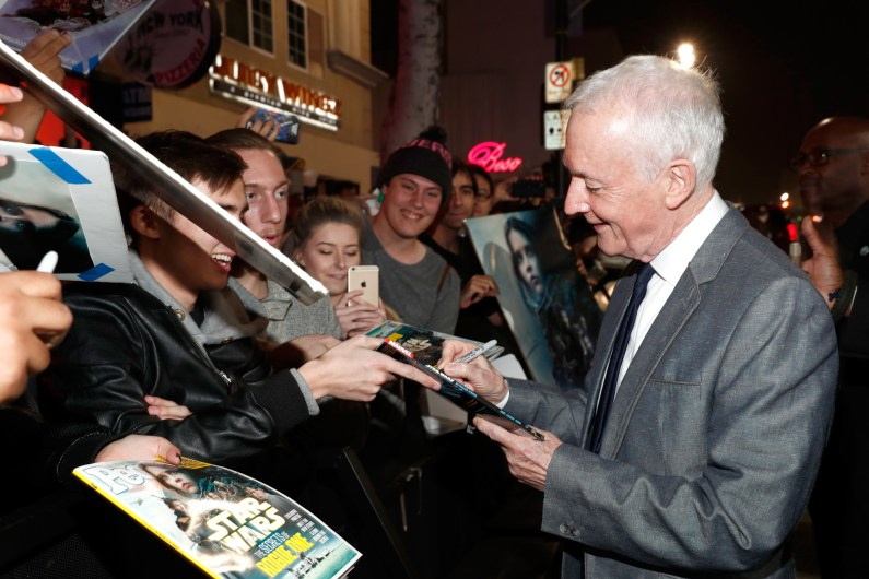 """HOLLYWOOD, CA - DECEMBER 10: Actor Anthony Daniels attends The World Premiere of Lucasfilm's highly anticipated, first-ever, standalone Star Wars adventure, """"Rogue One: A Star Wars Story"""" at the Pantages Theatre on December 10, 2016 in Hollywood, California. (Photo by Rich Polk/Getty Images for Disney) *** Local Caption *** Anthony Daniels"""