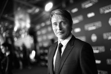 "HOLLYWOOD, CA - DECEMBER 10: (EDITORS NOTE: Image has been shot in black and white. Color version not available.) Actor Mads Mikkelsen attends The World Premiere of Lucasfilm's highly anticipated, first-ever, standalone Star Wars adventure, ""Rogue One: A Star Wars Story"" at the Pantages Theatre on December 10, 2016 in Hollywood, California. (Photo by Charley Gallay/Getty Images for Disney) *** Local Caption *** Mads Mikkelsen"
