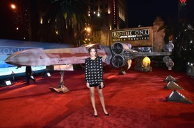"""HOLLYWOOD, CA - DECEMBER 10: Actress Georgie Flores attends The World Premiere of Lucasfilm's highly anticipated, first-ever, standalone Star Wars adventure, """"Rogue One: A Star Wars Story"""" at the Pantages Theatre on December 10, 2016 in Hollywood, California. (Photo by Marc Flores/Getty Images for Disney) *** Local Caption *** Georgie Flores"""