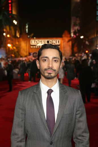 "HOLLYWOOD, CA - DECEMBER 10: Actor Riz Ahmed attends The World Premiere of Lucasfilm's highly anticipated, first-ever, standalone Star Wars adventure, ""Rogue One: A Star Wars Story"" at the Pantages Theatre on December 10, 2016 in Hollywood, California. (Photo by Jesse Grant/Getty Images for Disney) *** Local Caption *** Riz Ahmed"