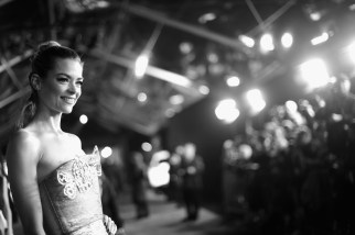 """HOLLYWOOD, CA - DECEMBER 10: (EDITORS NOTE: Image has been shot in black and white. Color version not available.) Actress Jaime King attends The World Premiere of Lucasfilm's highly anticipated, first-ever, standalone Star Wars adventure, """"Rogue One: A Star Wars Story"""" at the Pantages Theatre on December 10, 2016 in Hollywood, California. (Photo by Charley Gallay/Getty Images for Disney) *** Local Caption *** Jaime King"""