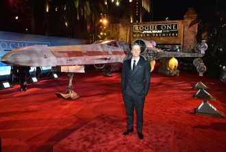 """HOLLYWOOD, CA - DECEMBER 10: Actor Alan Tudyk attends The World Premiere of Lucasfilm's highly anticipated, first-ever, standalone Star Wars adventure, """"Rogue One: A Star Wars Story"""" at the Pantages Theatre on December 10, 2016 in Hollywood, California. (Photo by Marc Flores/Getty Images for Disney) *** Local Caption *** Alan Tudyk"""