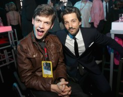 """HOLLYWOOD, CA - DECEMBER 10: Actors Micah Fowler (L) and Diego Luna attend The World Premiere of Lucasfilm's highly anticipated, first-ever, standalone Star Wars adventure, """"Rogue One: A Star Wars Story"""" at the Pantages Theatre on December 10, 2016 in Hollywood, California. (Photo by Jesse Grant/Getty Images for Disney) *** Local Caption *** Micah Fowler; Diego Luna"""