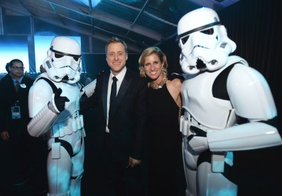 """HOLLYWOOD, CA - DECEMBER 10: Actor Alan Tudyk and choreographer Charissa Barton attend The World Premiere of Lucasfilm's highly anticipated, first-ever, standalone Star Wars adventure, """"Rogue One: A Star Wars Story"""" at the Pantages Theatre on December 10, 2016 in Hollywood, California. (Photo by Charley Gallay/Getty Images for Disney) *** Local Caption *** Alan Tudyk; Charissa Barton"""