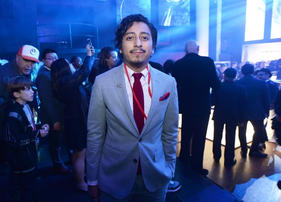 "HOLLYWOOD, CA - DECEMBER 10: Actor Tony Revolori attends The World Premiere of Lucasfilm's highly anticipated, first-ever, standalone Star Wars adventure, ""Rogue One: A Star Wars Story"" at the Pantages Theatre on December 10, 2016 in Hollywood, California. (Photo by Charley Gallay/Getty Images for Disney) *** Local Caption *** Tony Revolori"