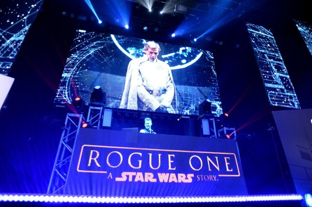 """HOLLYWOOD, CA - DECEMBER 10: General view of atmosphere at The World Premiere of Lucasfilm's highly anticipated, first-ever, standalone Star Wars adventure, """"Rogue One: A Star Wars Story"""" at the Pantages Theatre on December 10, 2016 in Hollywood, California. (Photo by Charley Gallay/Getty Images for Disney)"""