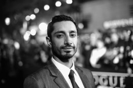 "HOLLYWOOD, CA - DECEMBER 10: (EDITORS NOTE: Image has been shot in black and white. Color version not available.) Actor Riz Ahmed attends The World Premiere of Lucasfilm's highly anticipated, first-ever, standalone Star Wars adventure, ""Rogue One: A Star Wars Story"" at the Pantages Theatre on December 10, 2016 in Hollywood, California. (Photo by Charley Gallay/Getty Images for Disney) *** Local Caption *** Riz Ahmed"