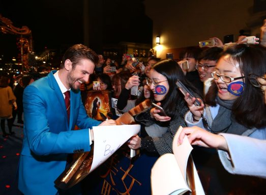 Dan Stevens attended the China Premiere of Beauty and the Beast in Shanghai.