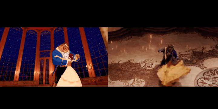 Beauty and the Beast Side by Side Trailer Comparison