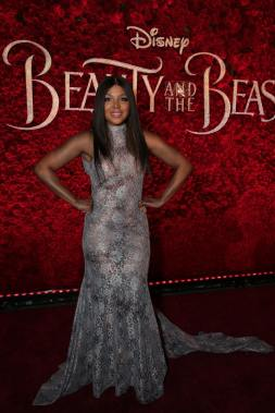 "Toni Braxton arrives for the world premiere of Disney's live-action ""Beauty and the Beast"" at the El Capitan Theatre in Hollywood as the cast and filmmakers continue their worldwide publicity tour. (Photo: Alex J. Berliner/ABImages)"