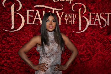 """Toni Braxton arrives for the world premiere of Disney's live-action """"Beauty and the Beast"""" at the El Capitan Theatre in Hollywood as the cast and filmmakers continue their worldwide publicity tour. (Photo: Alex J. Berliner/ABImages)"""
