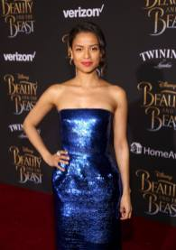 """LOS ANGELES, CA - MARCH 02: Actress Gugu Mbatha-Raw arrives for the world premiere of Disney's live-action """"Beauty and the Beast"""" at the El Capitan Theatre in Hollywood as the cast and filmmakers continue their worldwide publicity tour on March 2, 2017 in Los Angeles, California. (Photo by Jesse Grant/Getty Images for Disney) *** Local Caption *** Gugu Mbatha-Raw"""
