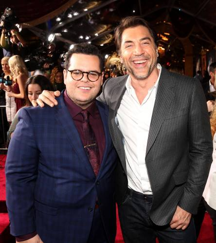 "LOS ANGELES, CA - MARCH 02: Actors Josh Gad (L) and Javier Bardem arrive for the world premiere of Disney's live-action ""Beauty and the Beast"" at the El Capitan Theatre in Hollywood as the cast and filmmakers continue their worldwide publicity tour on March 2, 2017 in Los Angeles, California. (Photo by Jesse Grant/Getty Images for Disney) *** Local Caption *** Josh Gad; Javier Bardem"
