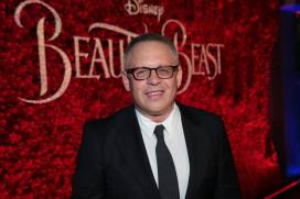 "Bill Condon arrives for the world premiere of Disney's live-action ""Beauty and the Beast"" at the El Capitan Theatre in Hollywood as the cast and filmmakers continue their worldwide publicity tour. (Photo: Alex J. Berliner/ABImages)"