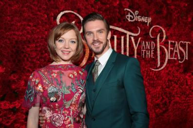 "Susie Hariet and Dan Stevens arrive for the world premiere of Disney's live-action ""Beauty and the Beast"" at the El Capitan Theatre in Hollywood as the cast and filmmakers continue their worldwide publicity tour. (Photo: Alex J. Berliner/ABImages)"
