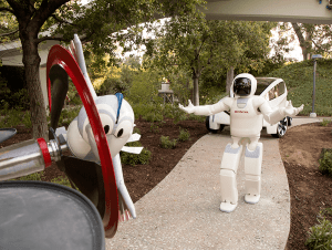 ASIMO and Bird Join Autopia at Disneyland