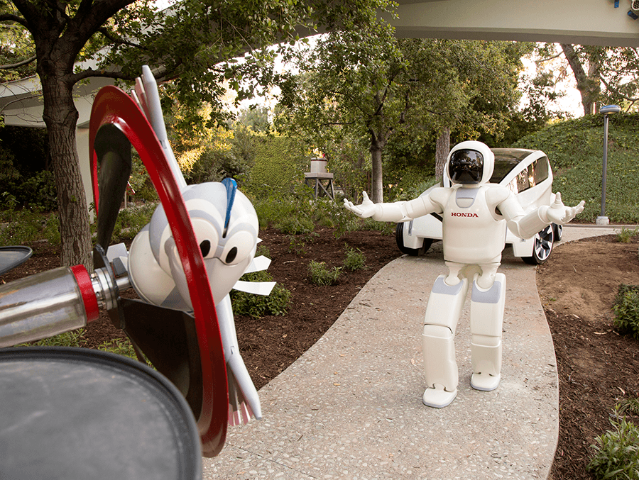 ASIMO Joins Autopia Attraction at Disneyland