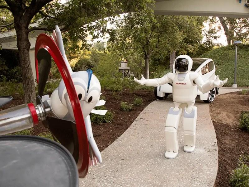 ASIMO and Bird Join Autopia at Disneyland