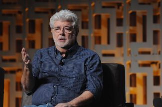 ORLANDO, FL - APRIL 13: George Lucas attends the 40 YEARS OF STAR WARS PANEL during the 2017 STAR WARS CELEBRATION at Orange County Convention Center on April 13, 2017 in Orlando, Florida. (Photo by Gerardo Mora/Getty Images for Disney) *** Local Caption *** George Lucas